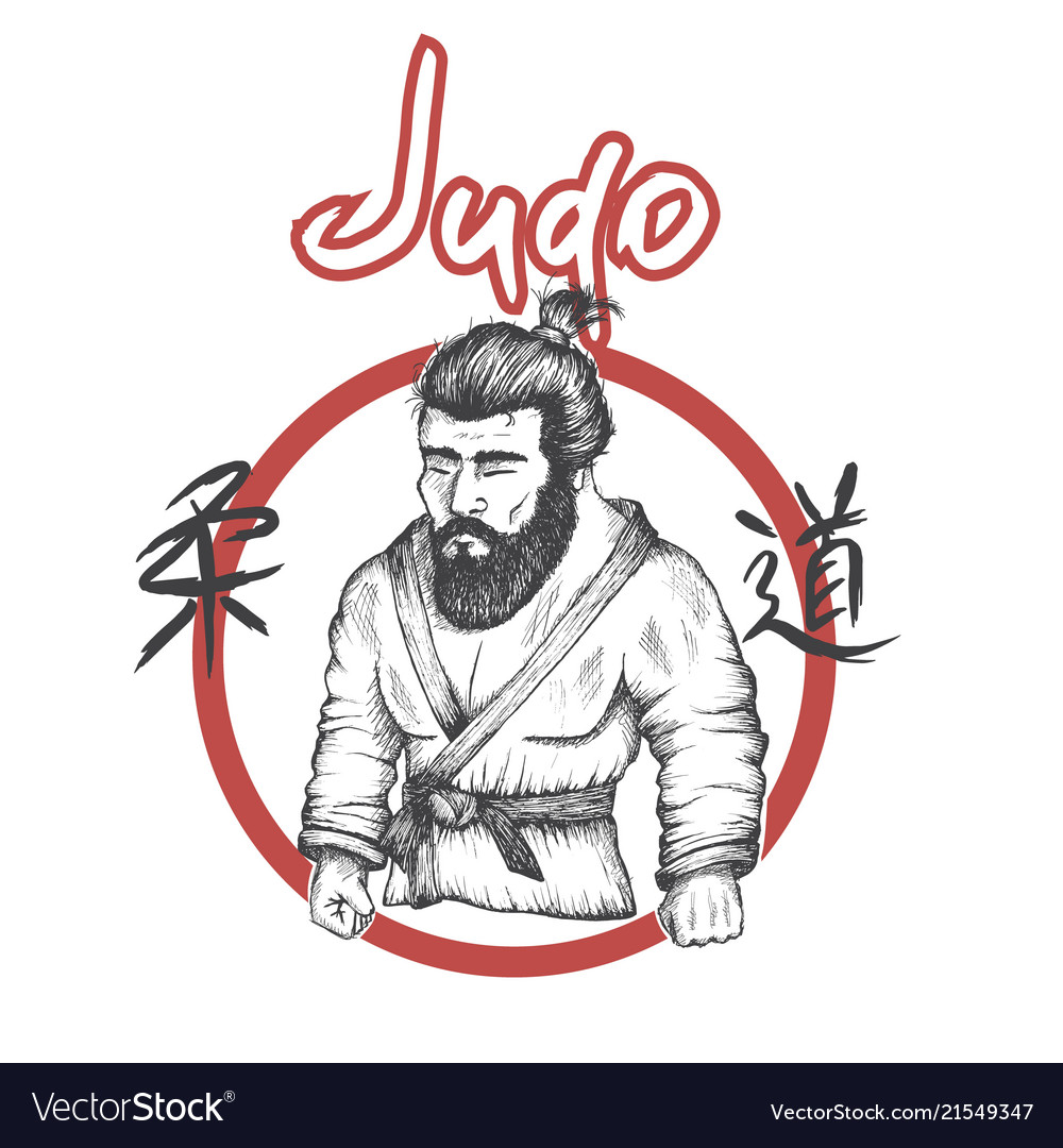 Judo logo with judoka