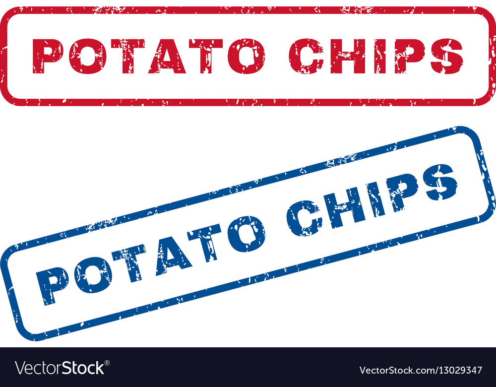 Potato Chips Rubber Stamps