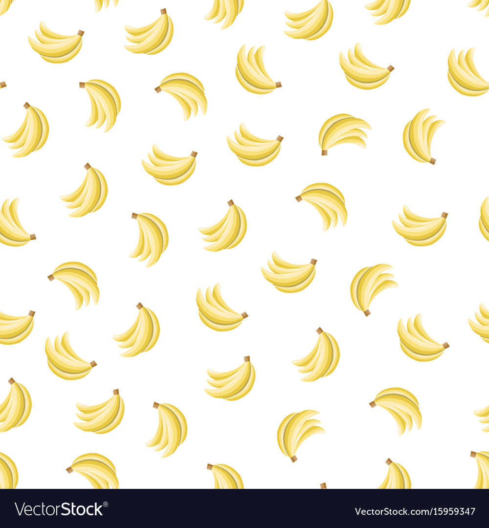 Seamless pattern with bananas vector image