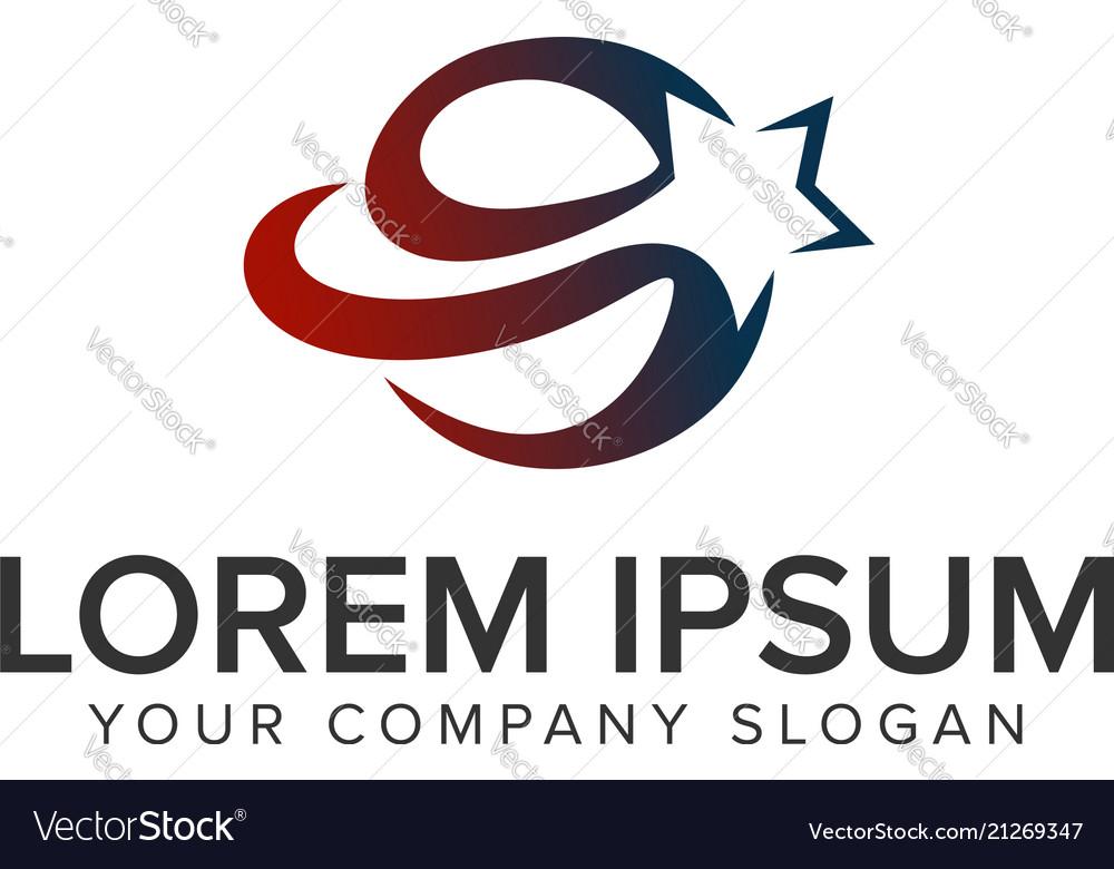Star globe logo logo design concept template