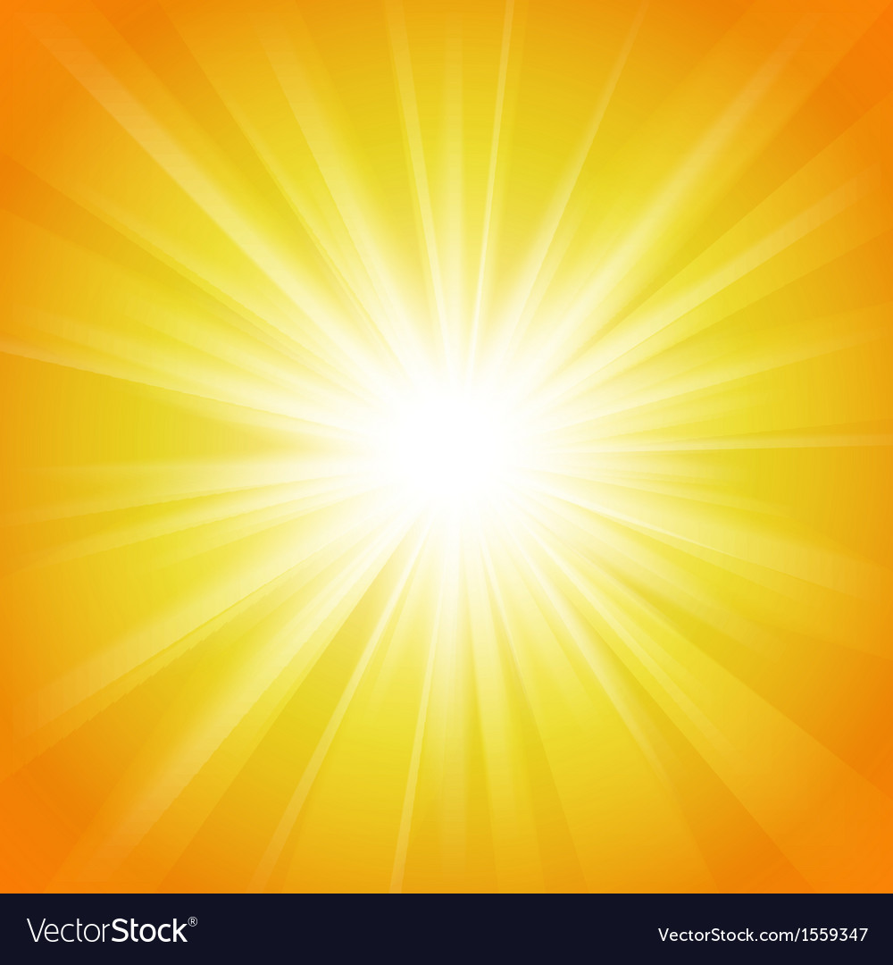 Yellow And Orange Abstract Magic Light Background