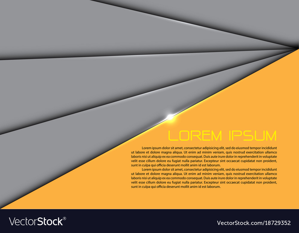 Abstract gray overlap yellow design modern
