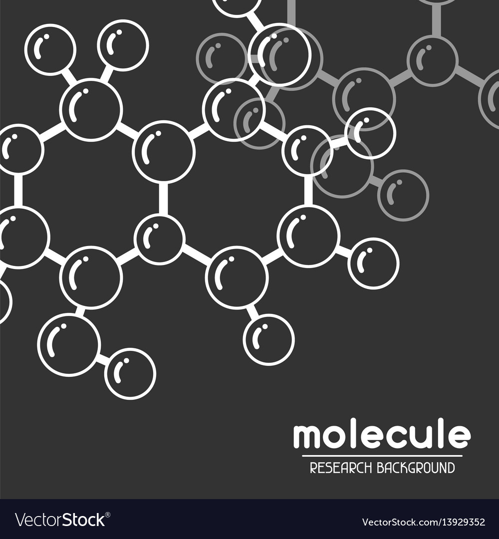 Background with molecular structure abstract vector image