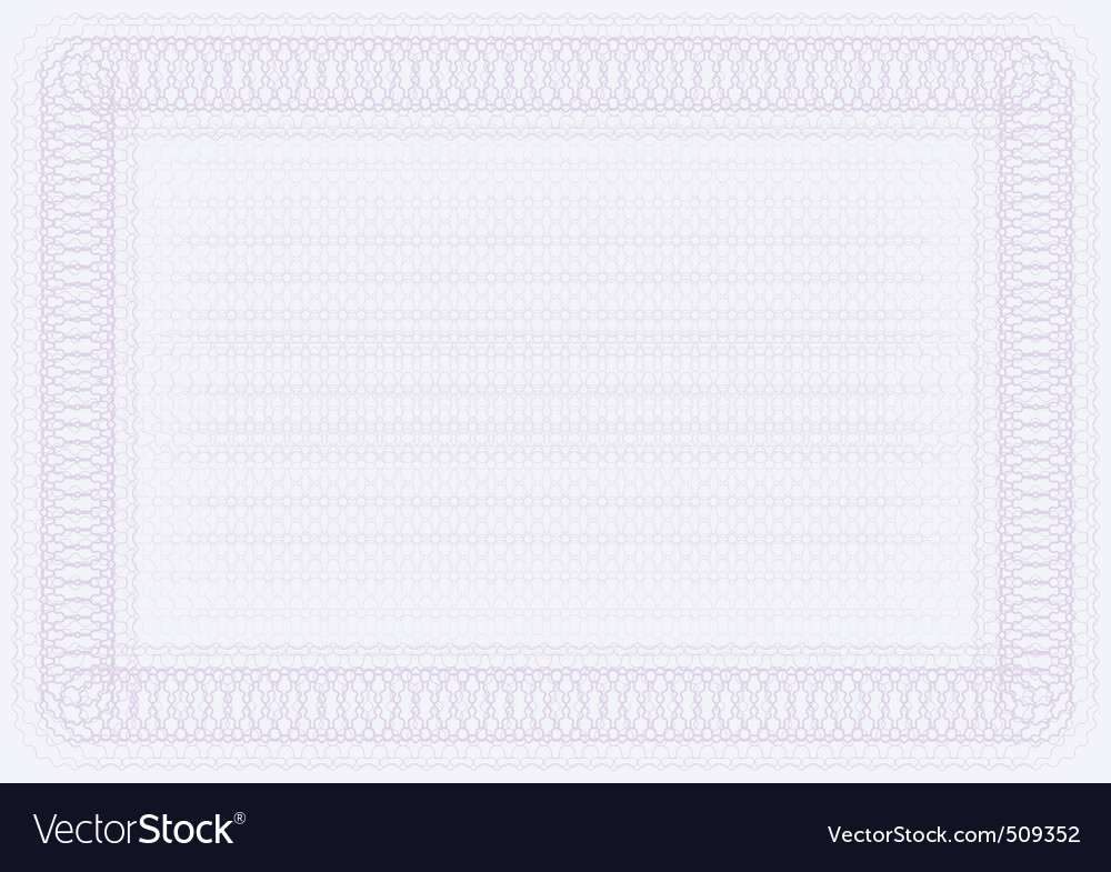Blank certificate template Royalty Free Vector Image