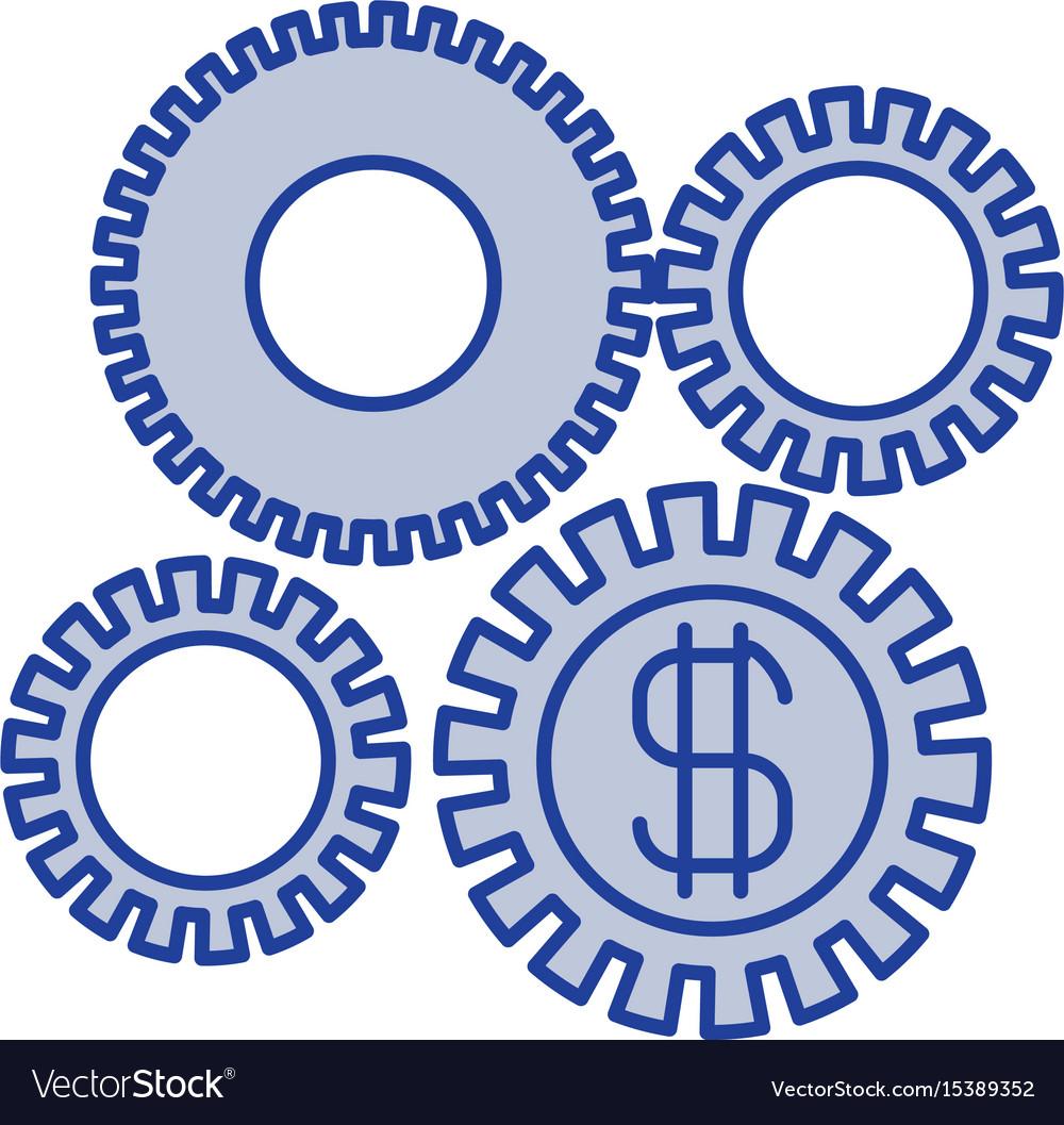 Blue silhouette of economic development graphic