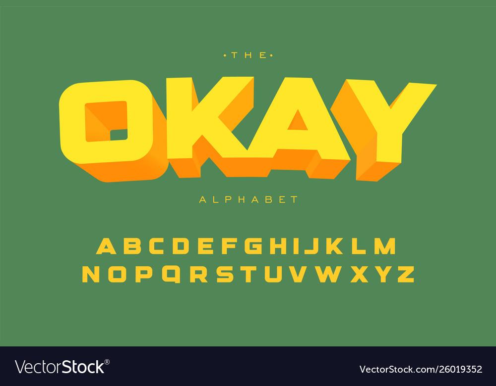 Bright alphabet template geometric simple bold