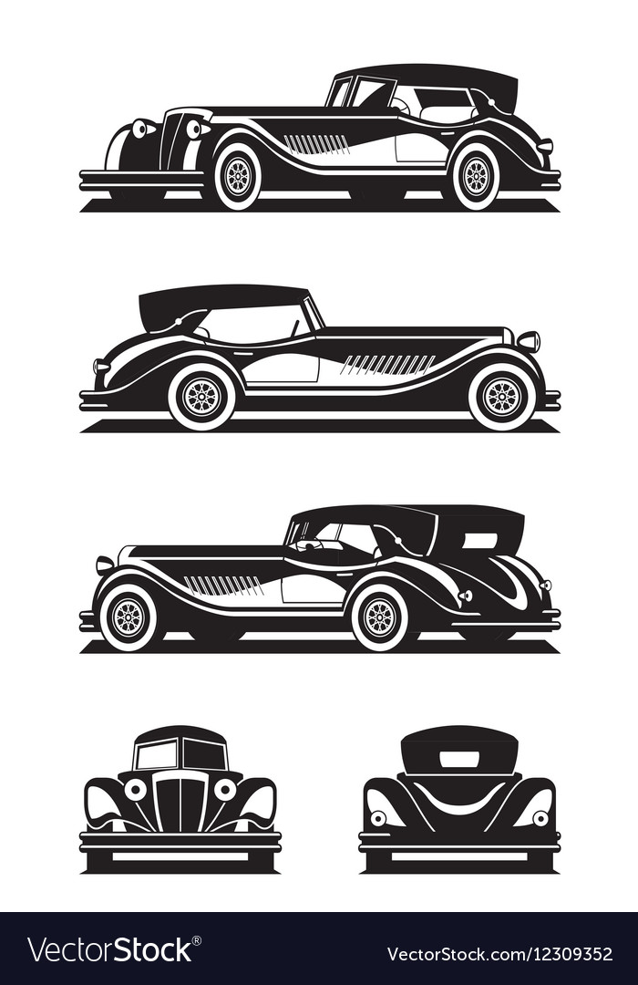 Classic car in different views