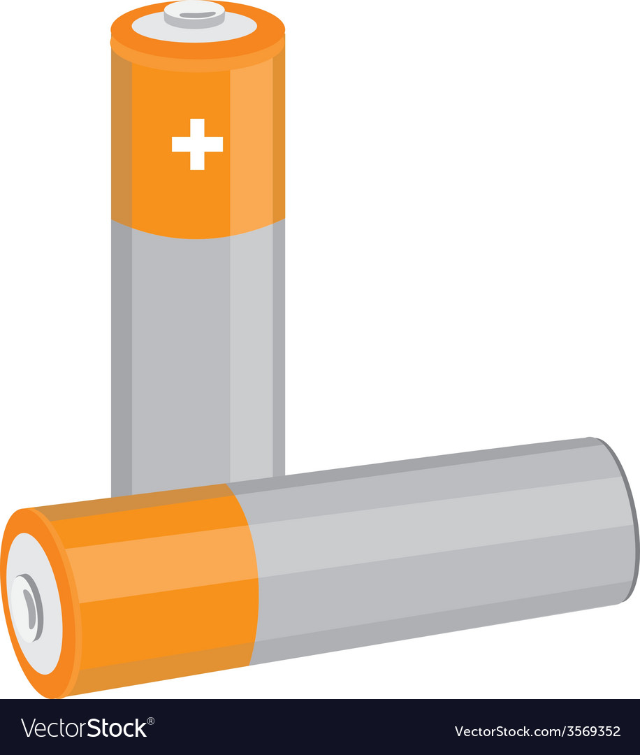 orange batteries royalty free vector image vectorstock vectorstock