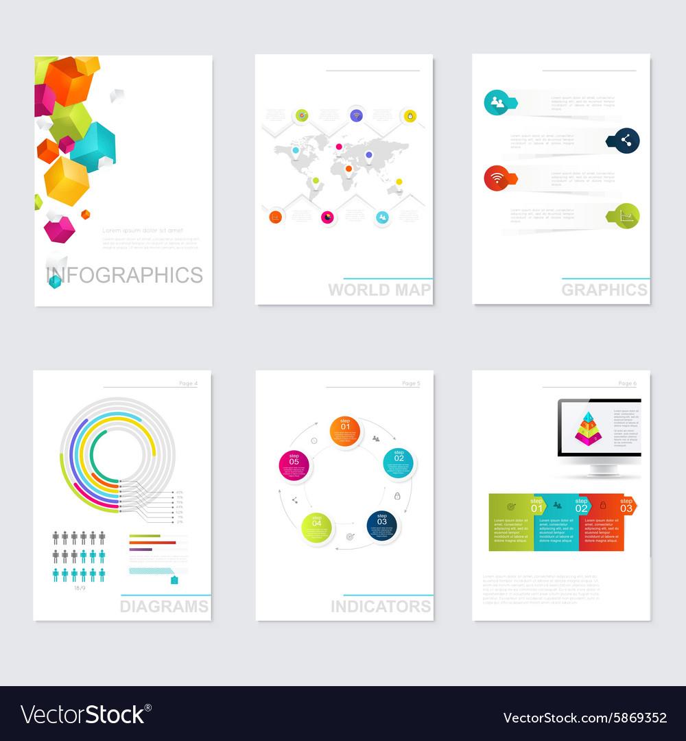 set of timeline infographic design templates vector image