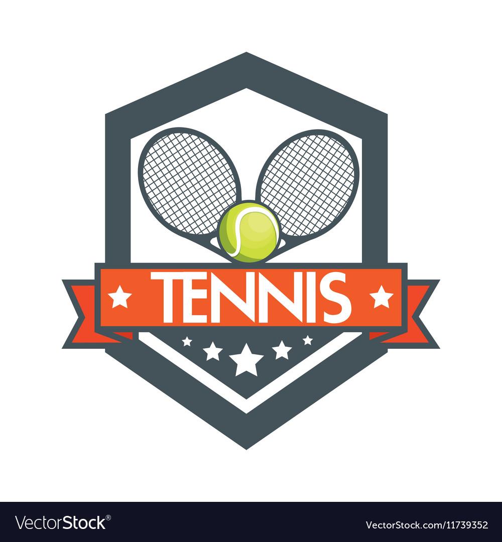 Tennis racket balls banner design