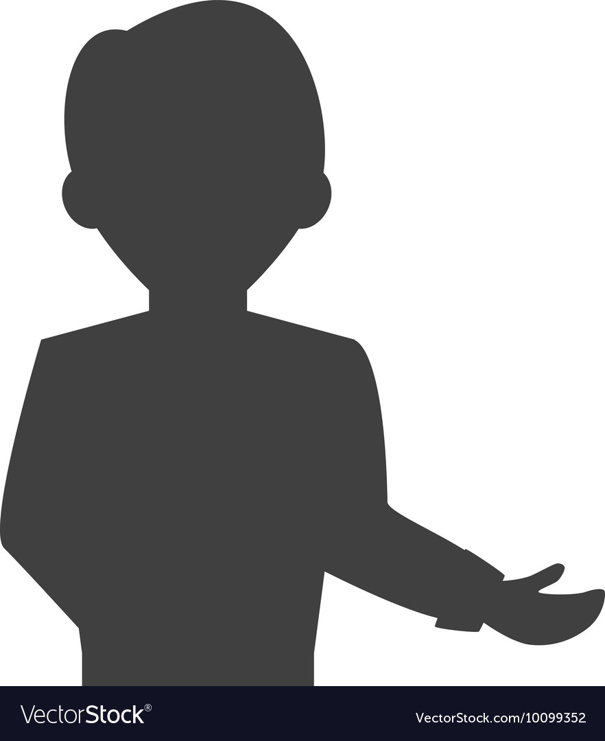 Waiter male avatar suit person icon