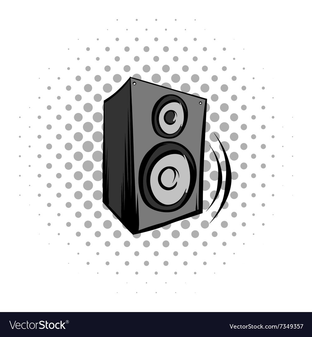 Audio speaker comics icon