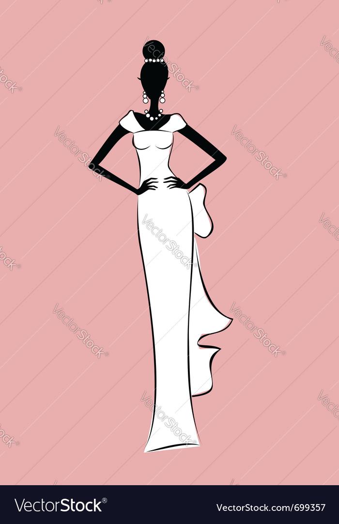 Bride fashion sketch