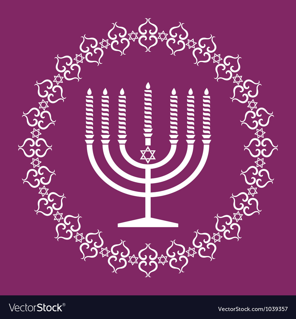 Jewish menorah holiday background