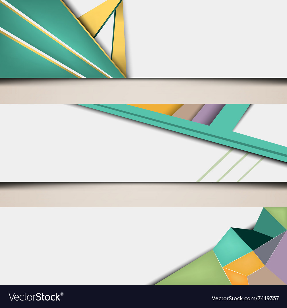 Polygonal abstract banners set vector image