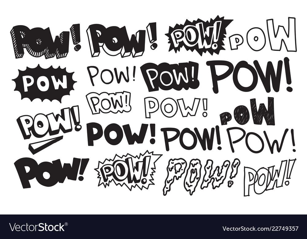 Typography slogan pow text universal short quote