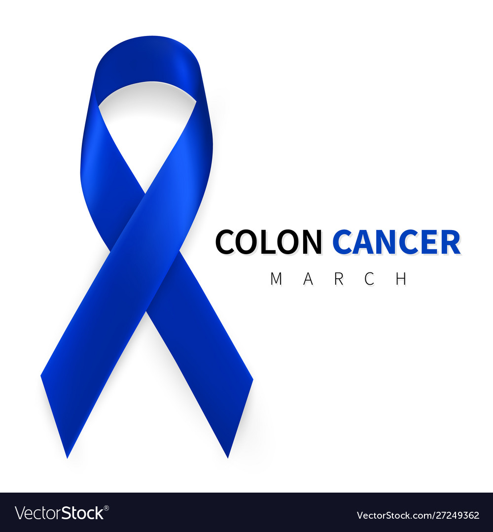 Colorectal Colon Cancer Awareness Month Realistic Vector Image