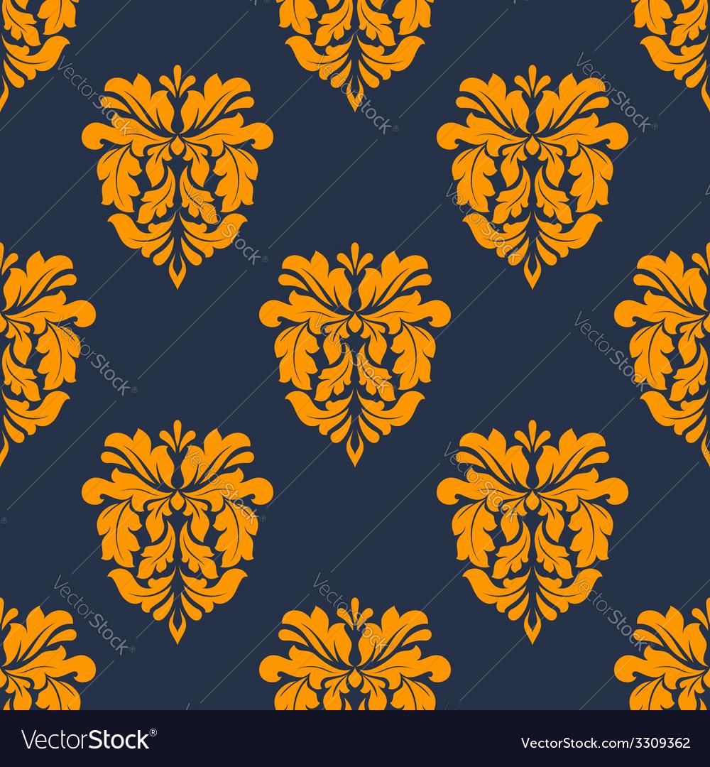 Colorful yellow arabesque seamless pattern