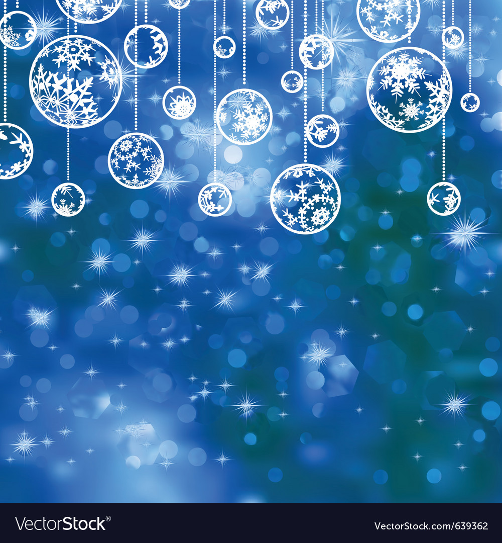 elegant blue christmas background royalty free vector image vectorstock