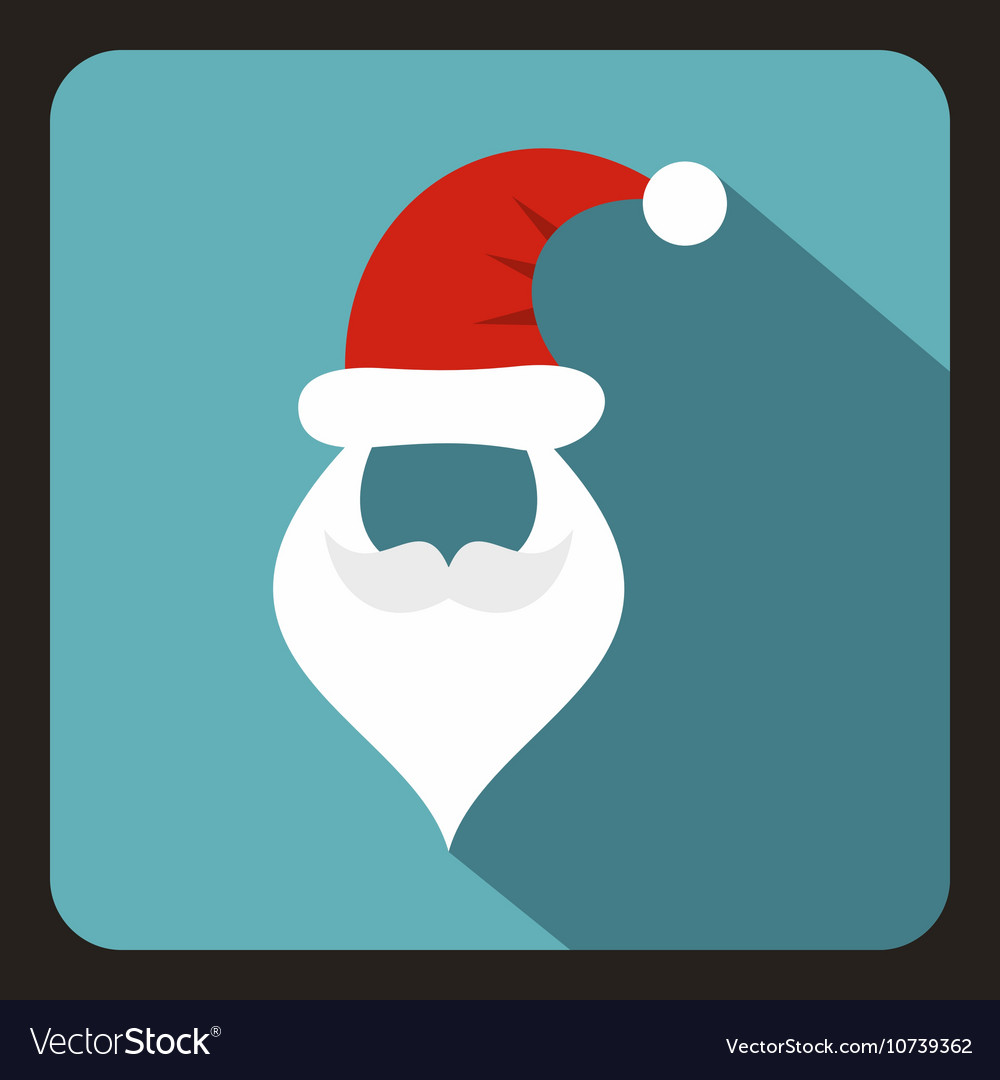 5ed63c61e45 Hat and beard with mustache of Santa Claus icon Vector Image
