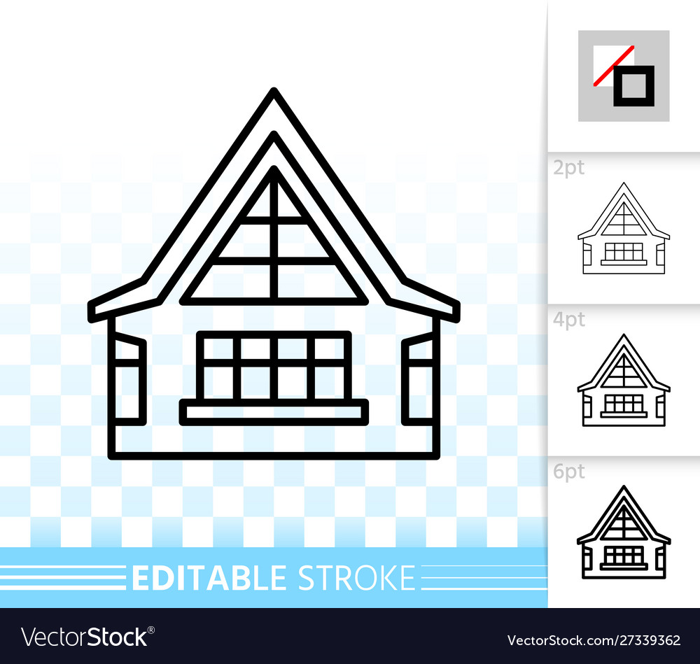 House simple black line home exterior icon