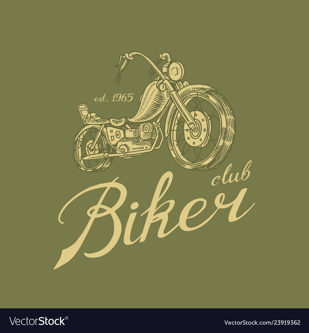 Motorcycle bike for t-shirt vintage transport