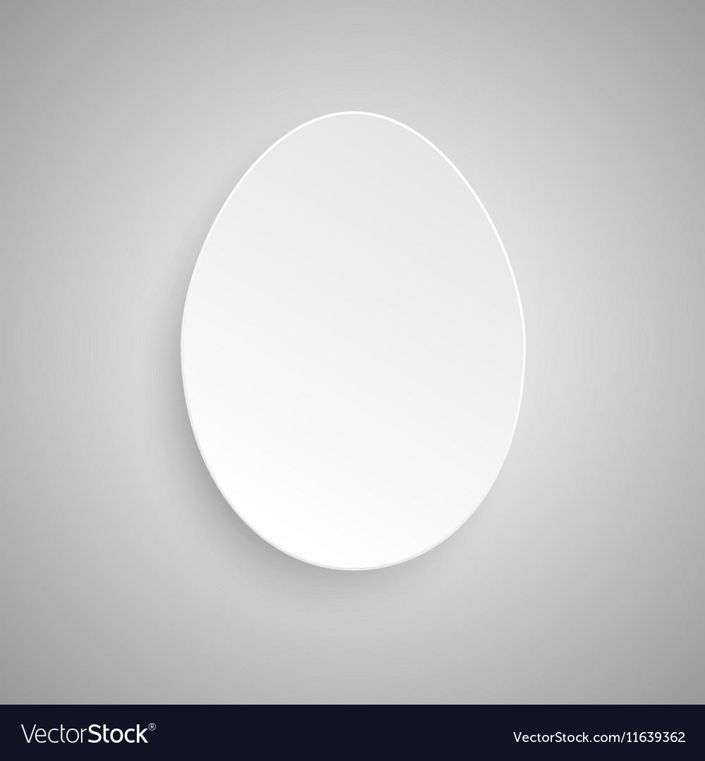 Paper Banner Design Mockup Egg
