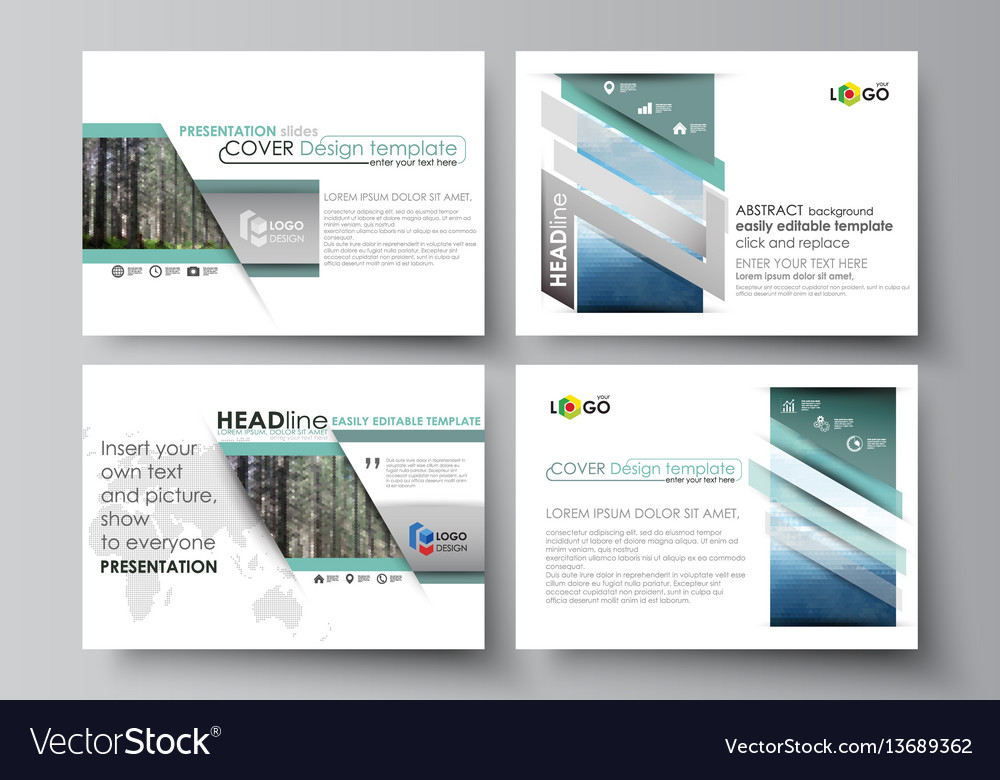 Abstract presentation slide template design background with.