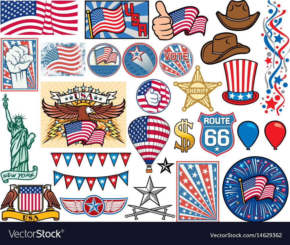Usa icons set