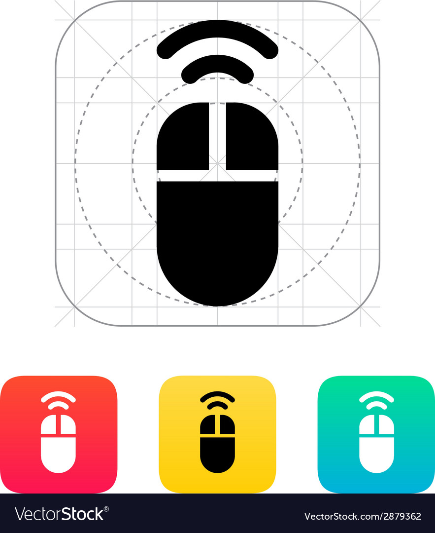 Wireless mouse icon Royalty Free Vector Image - VectorStock