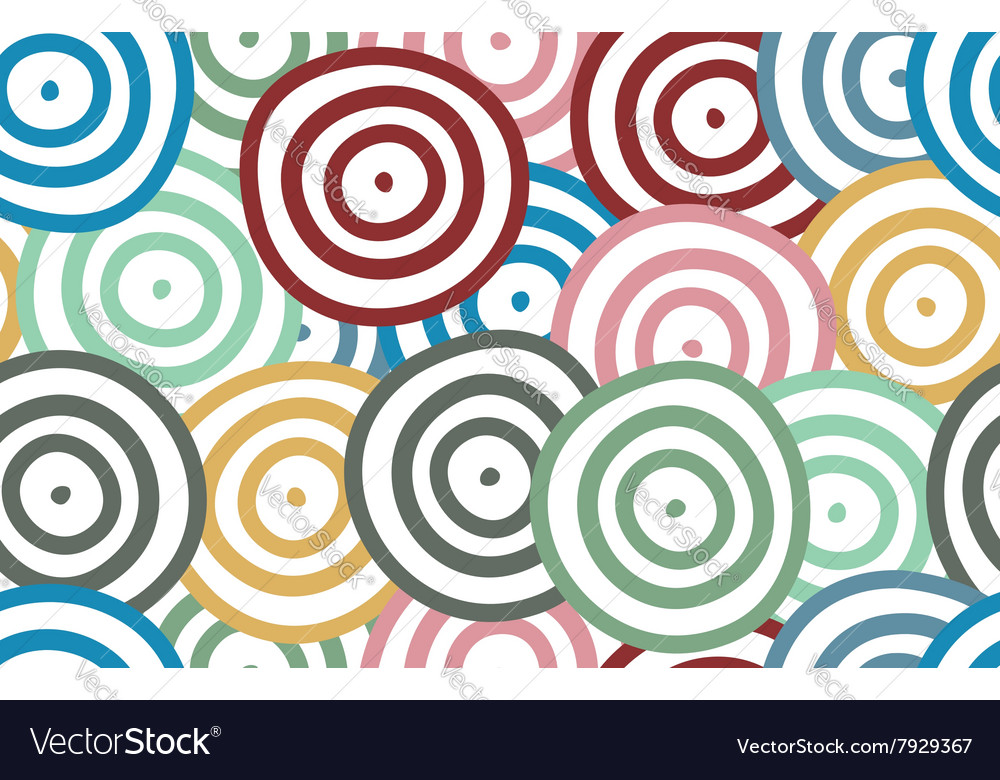 Background of colorful curved rounds