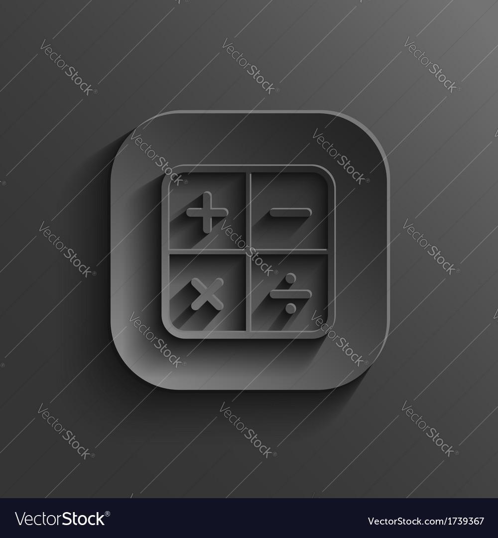 Calculator icon - black app button