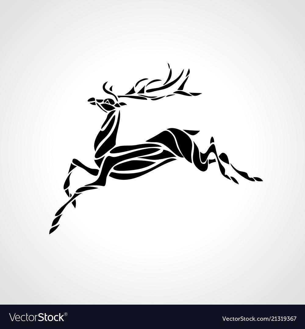 Creative deer silhouette