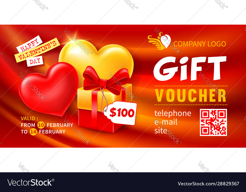 Gift voucher template for holiday shopping