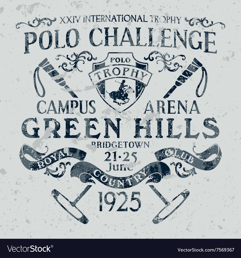 Horseback polo sport challenge vector image