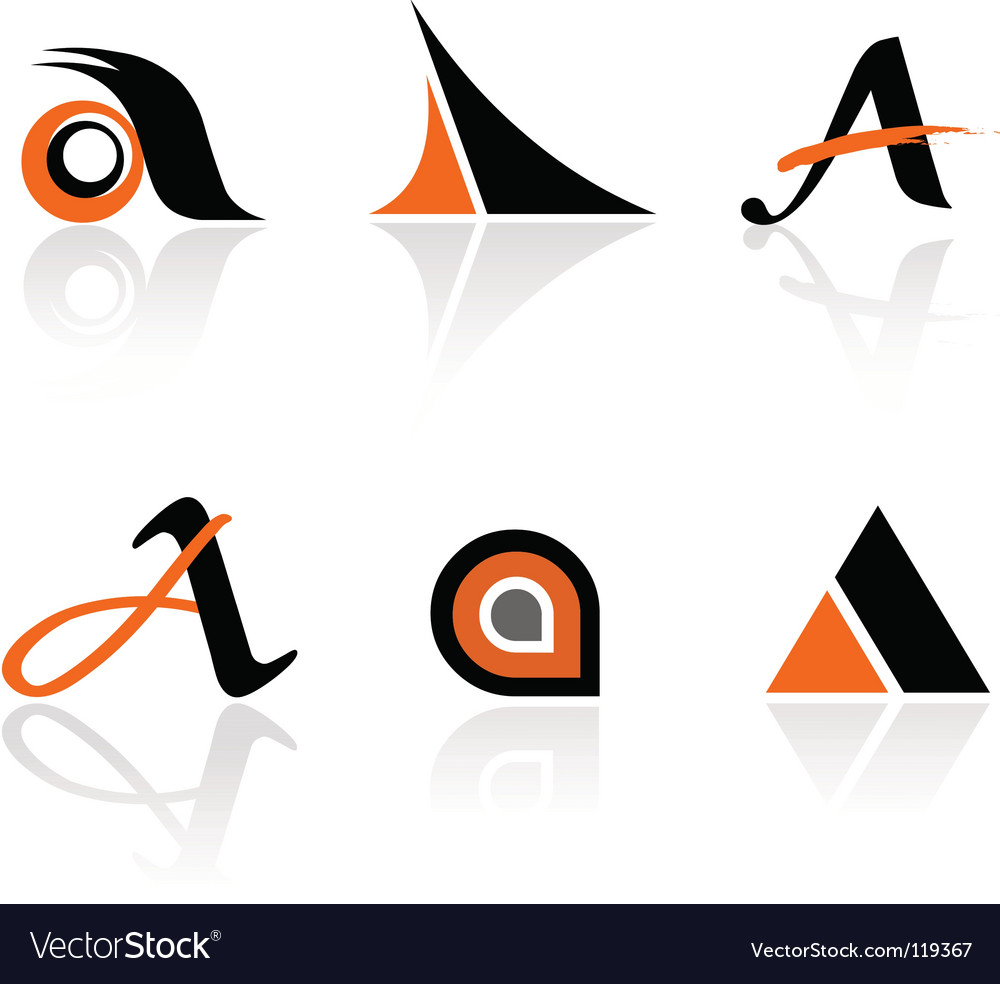 Logo elements vector image