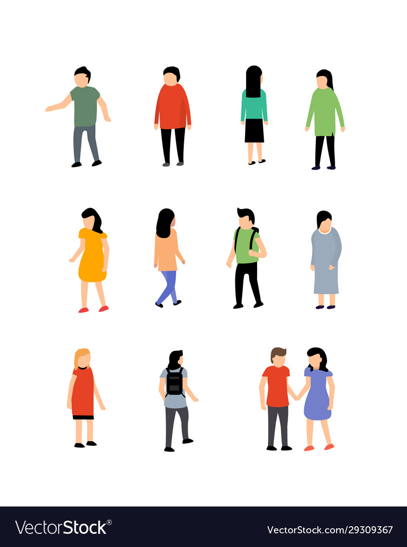 Person isometric people man
