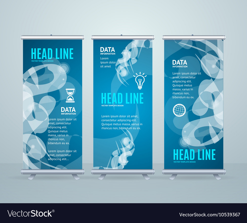 Roll up banner stand design with abstract