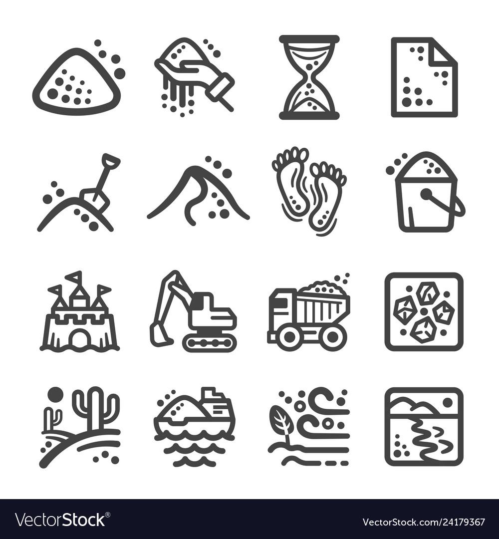 Sand icon set