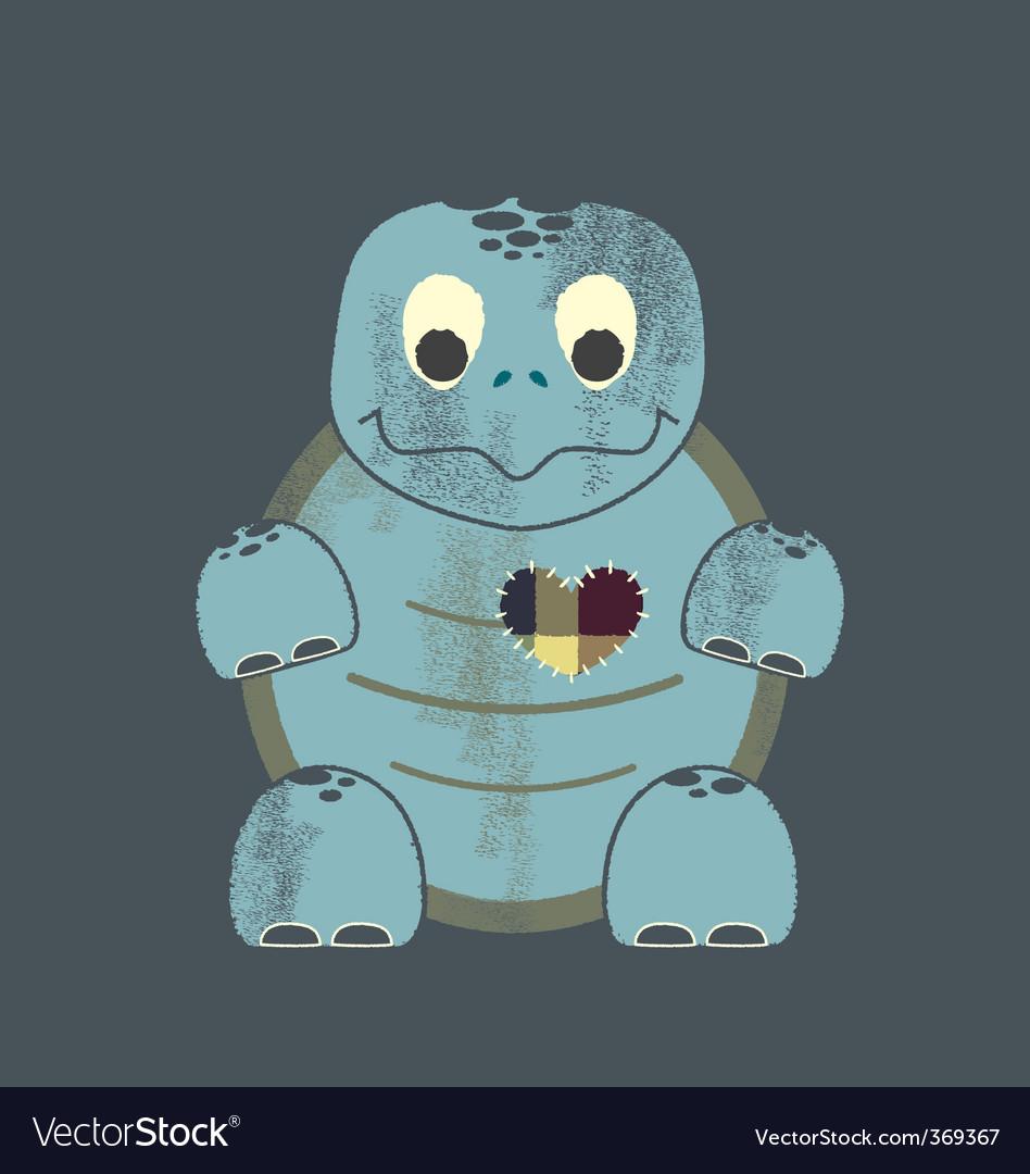 Valentine turtle vector image