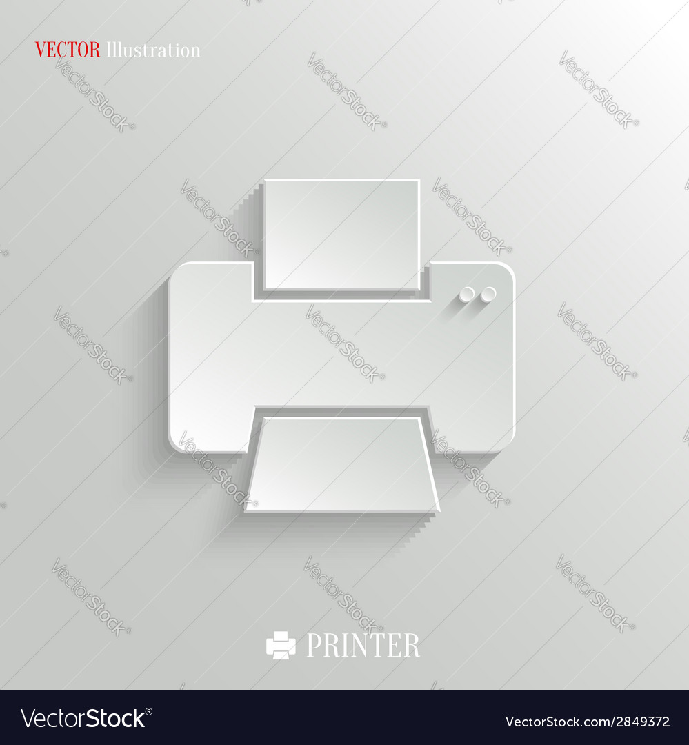 Printer icon - white app button