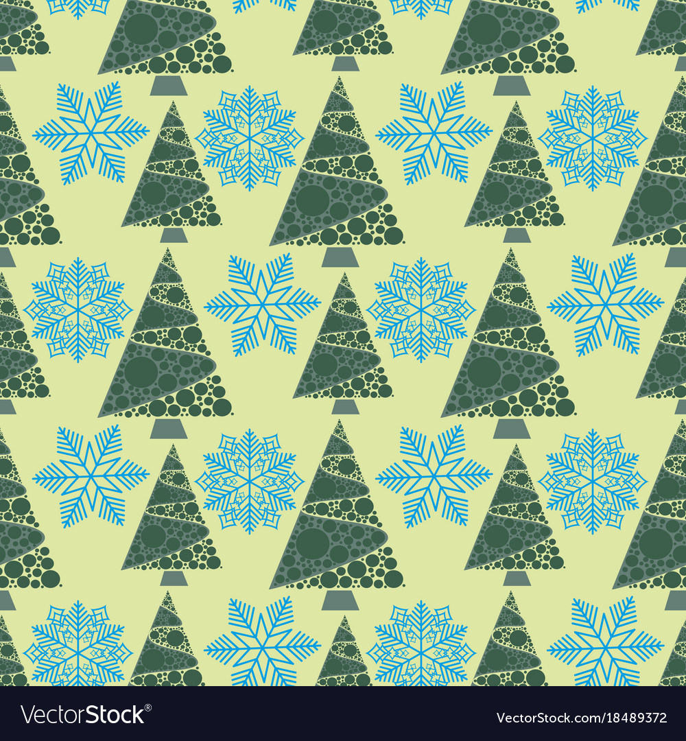 Snowflake winter design season december snow trees