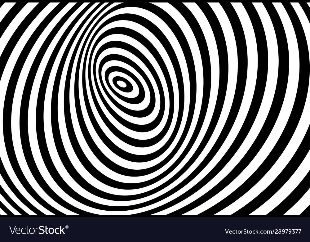 3d twisted circle black and white optical illusion