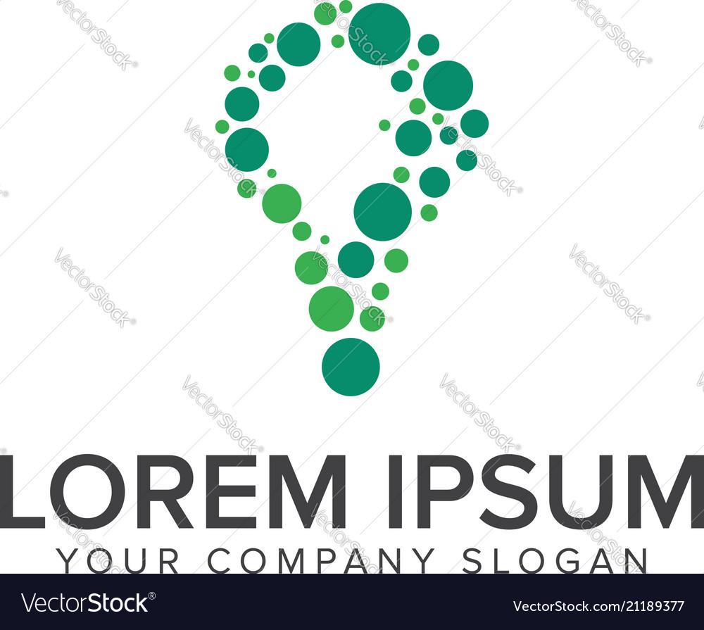 Bulb circular logo design concept template