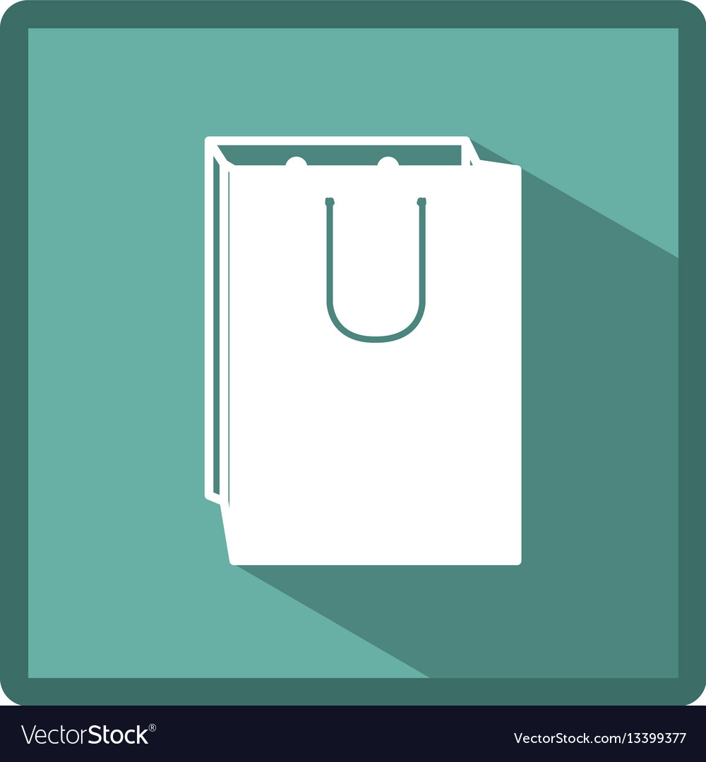 Emblem bag of gift icon vector image