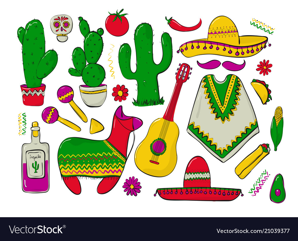 Fiesta and latin american festivals a set of