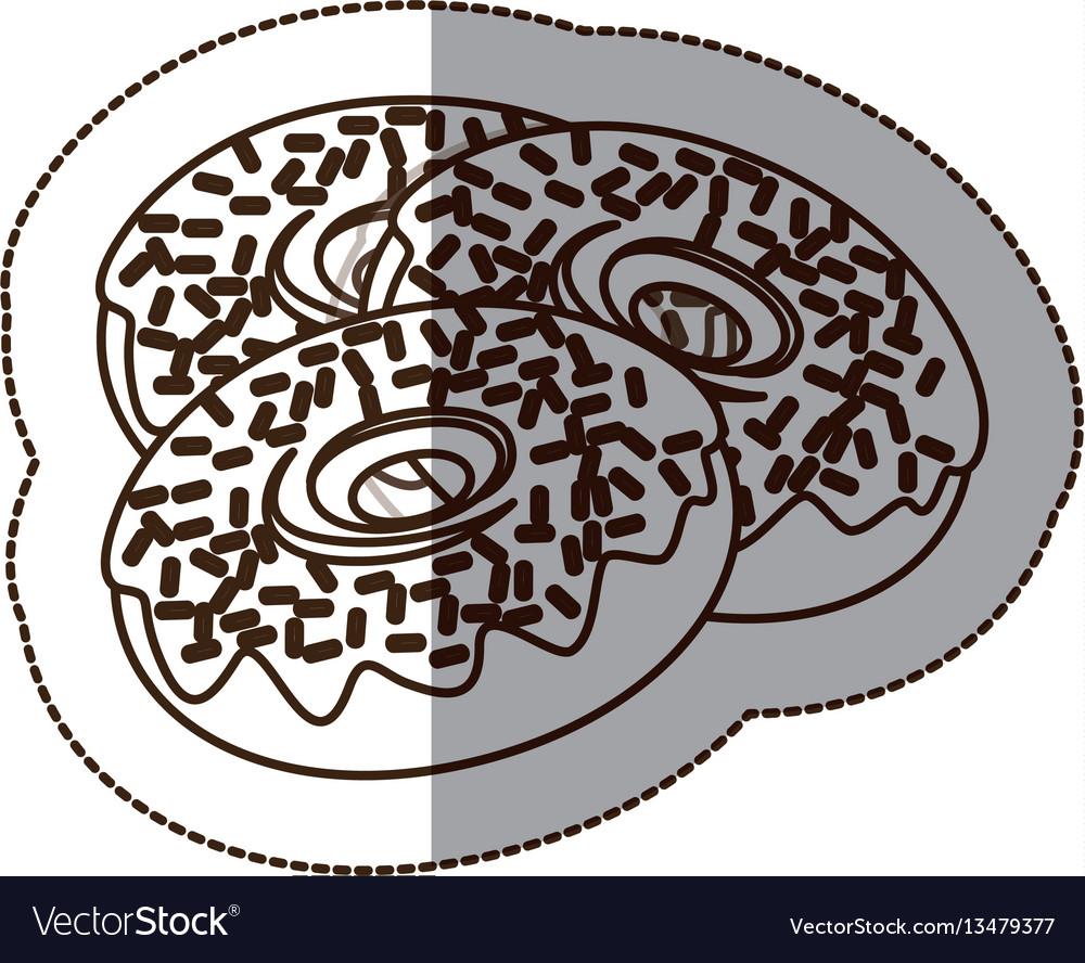 Figure chocolate donuts icon