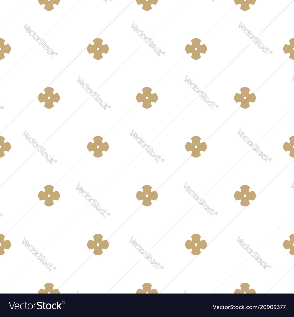 Gold And White Seamless Pattern With Flower Shapes