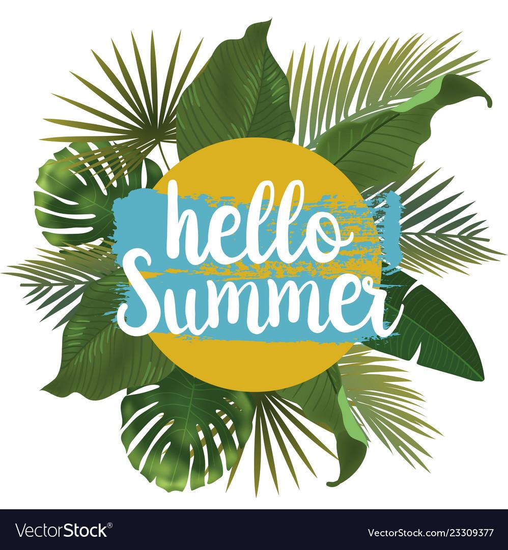 Hello summer time wallpaper fun party