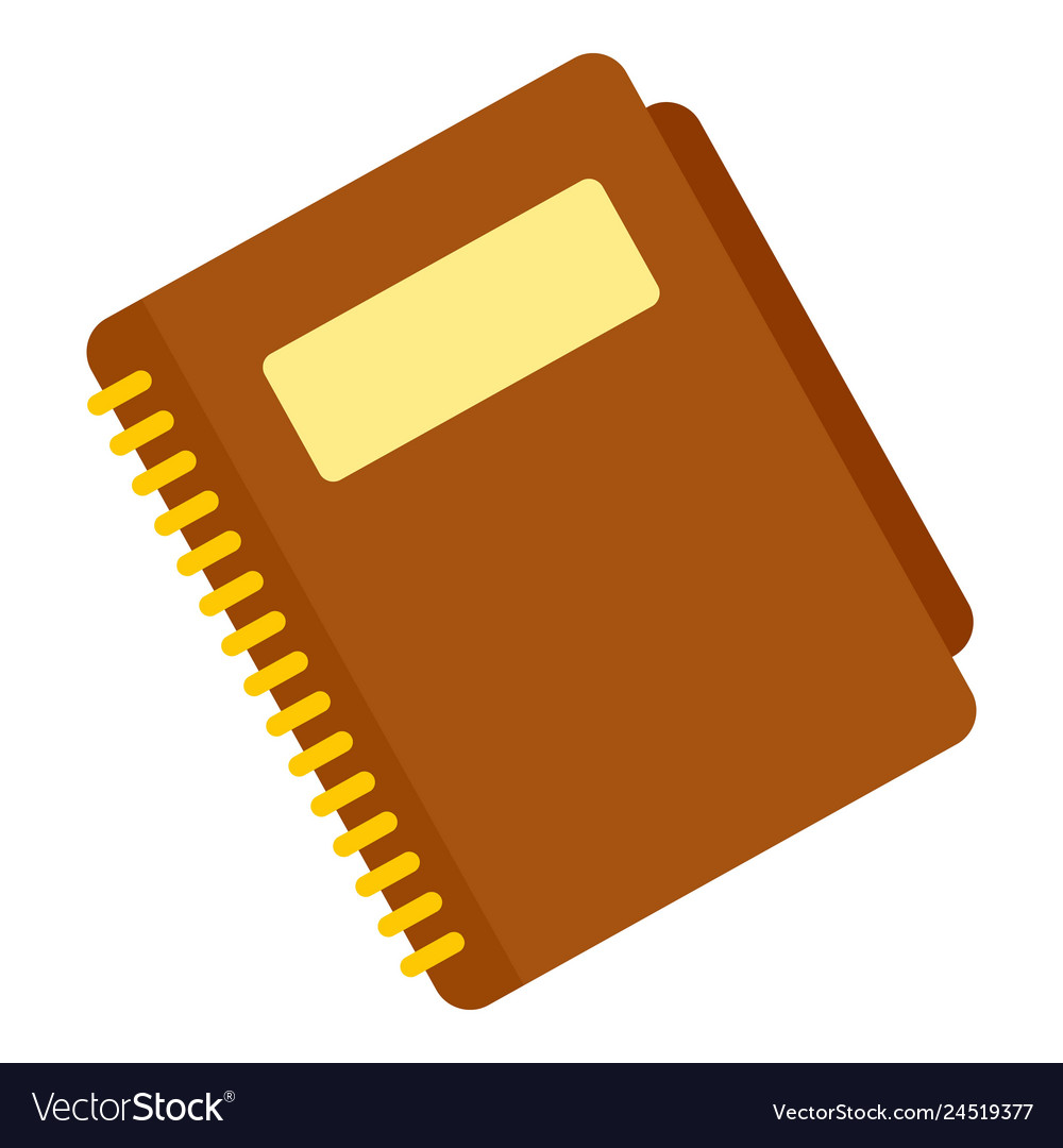 Office paper notebook icon flat style